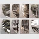 Großhandel Geschenkartikel & Papeterie: Trauerkarten  Beileidsbekundung Anteilnahme Karten