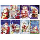 Weihnachtsgrußkarte, Glückwunschkarte Weihnachtsma