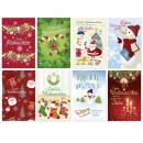 Weihnachtsgrußkarte, Glückwunschkarte Schneemann 1
