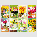Glückwunschkarte Geburtstag Grußkarte Karte Blumen
