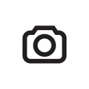 Felt flamingo with palm on wooden base h = 31,5cm,