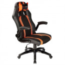 groothandel Kantoormeubels: Gaming stoel  Tacens MGC2BO PU Zwart Oranje