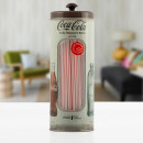 OUTLET Coca-Cola Vintage Straw Container (Small sc