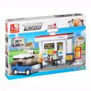 wholesale Blocks & Construction: Service Station  Building Game (167 pieces)