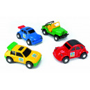 wholesale Fashion & Apparel: Wader Color Cars car, 4 times assorted 22 cm