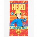 groothandel Bad- & handdoeken: handdoek Microfiber Sam de brandweermannen