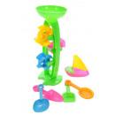 Großhandel Outdoor-Spielzeug: Sandmühlen Set 2farb sort, Netz, ca.H:33