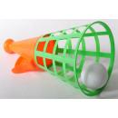 Großhandel Bälle & Schläger: Fangballspiel 1 Ball, Netz, ca. 31x18cm
