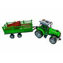 Traktor m. Trailer + timber, AK