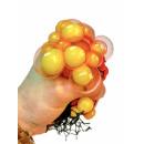 Großhandel Bälle & Schläger: Knautschball im Netz farbl. s., DIS, ca.