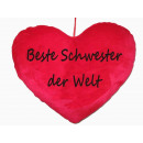 wholesale Cushions & Blankets: Herzkissen best sister in the world, PB,