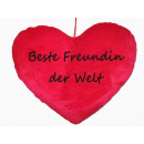 wholesale Cushions & Blankets: Herzkissen best girlfriend in the world, PB,