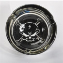 wholesale ashtray: Glass Ashtray Pirate 6x sort.