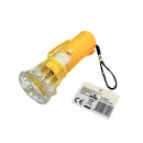 Großhandel Taschenlampen: Taschenlampe m.LED weiß, 4-fach sort
