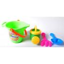 Großhandel Outdoor-Spielzeug: Sandspielzeug m.Eimer i.Set, farb. sort