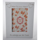 Wooden picture frame white m. engraving