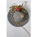 Tree ornament hat 3COLORS, about D: 10cm