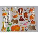 wholesale Business Equipment: Stickers Zoo Animals approx 98x69 cm