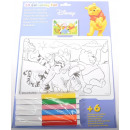 3D image Winnie the Pooh for coloring. Sort.