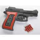 Pistol without magazine, less than 0.5 joules