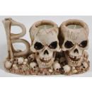 Tealight holder skull approx. 19x8,5x11
