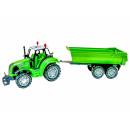 Großhandel Reiseartikel: Traktor mit Anhänger farbl. sort.