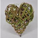 grossiste Fournitures de bureau equipement magasin: Racine aérienne coeur nature vert environ 25 cm