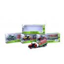 Großhandel Reiseartikel: Traktor mit Anhänger sort. ca. 17x4x4,5c