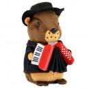 Laber Marmot 'Murmu' with swiss costume an