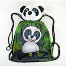 Sports bag with plush toy, Panda, 40x30cm