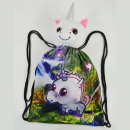 Sports bag with plush toy, unicorn, 30x40cm