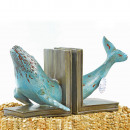 Design Maritim, Polyresin Finnwal bookend, 17x1