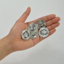 Pirate's treasure, silver coins made of plasti