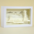 Light box, 3D shadow box, Lindau, white frame, 2