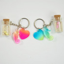 wholesale Gifts & Stationery: Keyring Maritim, bottle mail with Seepfe