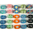 wholesale Jewelry & Watches: Finger rings with colorful motifs 17mm, 18mm, 19mm