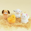 Mini farm stuffed animals with sound, 4-fold sorti