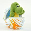 Daniel, mini dino made of plush in an egg, 13cm
