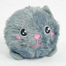 BomBoms drôles d'animaux duveteux, chat, Ø12cm