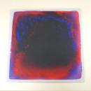 Liquid floor mat, 50x50cm, red / blue