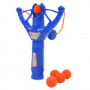Softball slingshot with rapid fire function, incl
