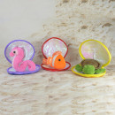 Sea animals made of plush in the shell, seahorse,