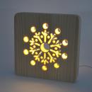 Großhandel Dekoration: AmbiWood, Holzschnittlampe, Schneeflocke, ...