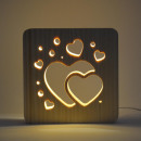 wholesale Home & Living: AmbiWood, woodcut lamp, heart, 19x19x3cm, inc