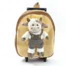3 in 1 animal backpack & trolley, cow with pan