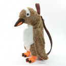 wholesale Bags & Travel accessories: Animal backpack, penguin, brown, with carrying han