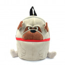 Animal backpack, funny dog, brown, with carrying h