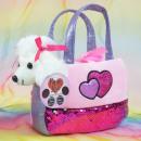 Handbag with plush toy, 26x26 cm, Rainbow-We