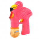 Buborék pisztoly flamingó buborékfóliában, zenével