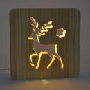 wholesale Home & Living: Ambiwood, woodcut lamp, reindeer, 19x19x13cm, i
